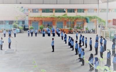 Upacara peringatan HUT RI ke-75 SMA Negeri 1 Blora di tengah pandemi Covid-19